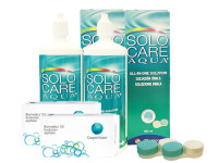 Lentillas Biomedics 55 Evolution + Solo Care Aqua - Packs