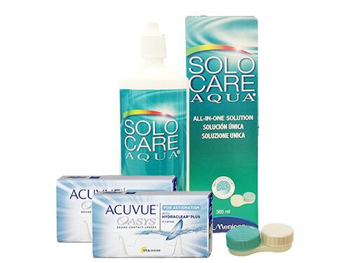 7f817d81a379e Lentillas Acuvue Oasys for Astigmatism + Solo Care Aqua - Packs