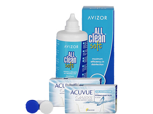 Lentillas Acuvue Oasys for Astigmatism + All Clean Soft - Packs