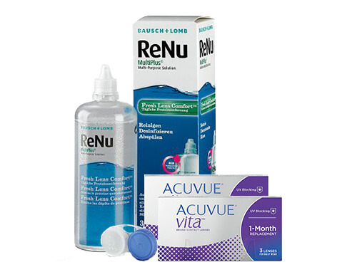 Lentillas Acuvue Vita + Renu Multiplus - Packs