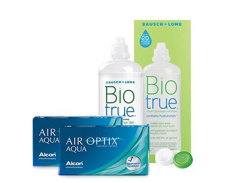 6ed44b0c14511 Lentillas Air Optix Aqua + Biotrue - Packs