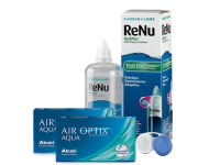 Lentillas Air Optix Aqua + Renu Multiplus - Packs