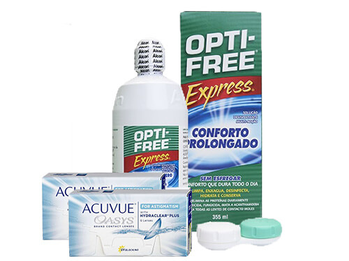 Lentillas Acuvue Oasys for Astigmatism + Opti-Free Express - Packs