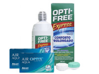 Lentillas Air Optix Aqua + Opti-Free Express - Packs