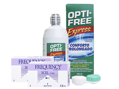 Lentillas Frequency Xcel Toric + Opti-Free Express - Packs
