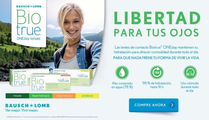826e3ecd00 Libertad para tus ojos con Lentillas Biotrue Ondeday Lentes de contacto 365