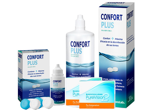 Lentillas Purevision 2 Astigmatismo + Confort Plus - Packs