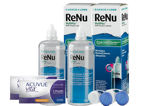 Lentillas Acuvue Vita for Astigmatism + Renu Multiplus - Packs