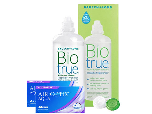 Lentillas Air Optix Aqua Multifocal + Biotrue - Packs