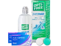 Lentillas Air Optix Aqua Multifocal + Opti-Free PureMoist - Packs