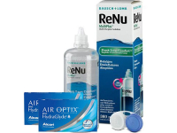 Lentillas Air Optix Plus HydraGlyde + Renu Multiplus - Packs