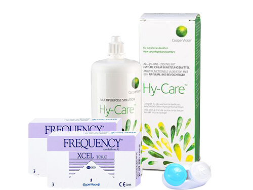 Lentillas Frequency Xcel Toric + Hy-Care - Packs