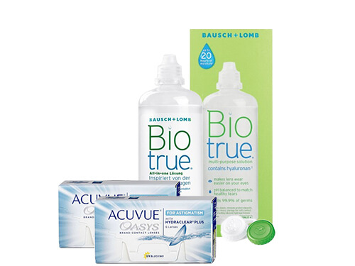 Lentillas Acuvue Oasys for Astigmatism + Biotrue - Packs